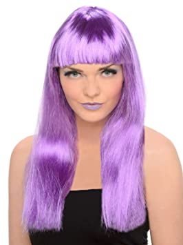 Generique - Peluca con Flequillo Mujer Violeta