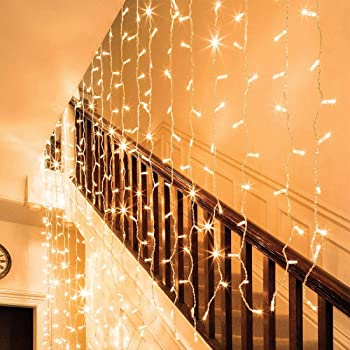 Auhavor 594 String Fairy Curtain Window 8 Modes Twinkle Lights