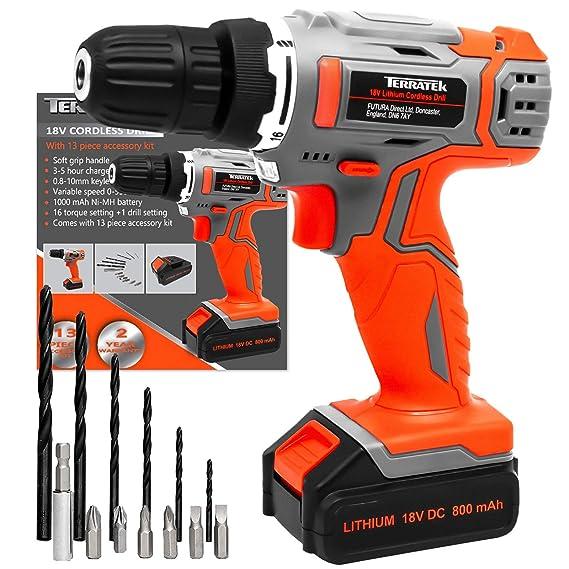 Terratek® 13Pc Cordless Drill Driver