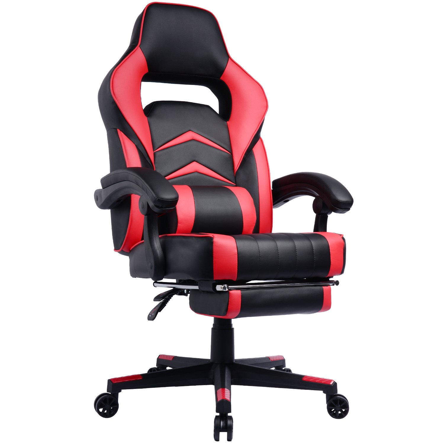 Gaming Chair with Footrest and Reclining Backrest, Racing Style High Back Office Chair - Chaise Gamer Prime Selection Products