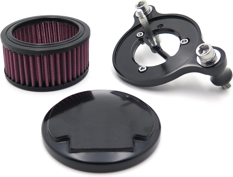 Htt Noir T/ête de mort Yeux Syst/ème de filtre dentr/ée dair Cleaner Kit pour Harley Sportster Xl883/Xl1200/1988/1989/1990/1991/1992/1993/1994/1995/1996/1997/1998/1999/