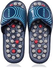 BYRIVER Reflexology Foot Massager, Acupressure Massage Slippers Shoes Sandals Mat for Men Women, Relief Plantar Fasciitis Heel Arch Arthritis Neuropathy Pain (05M)