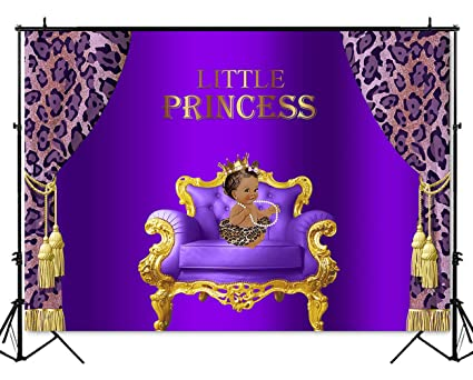 Amazoncom Mehofoto Royal Princess Purple Baby Shower Backdrop