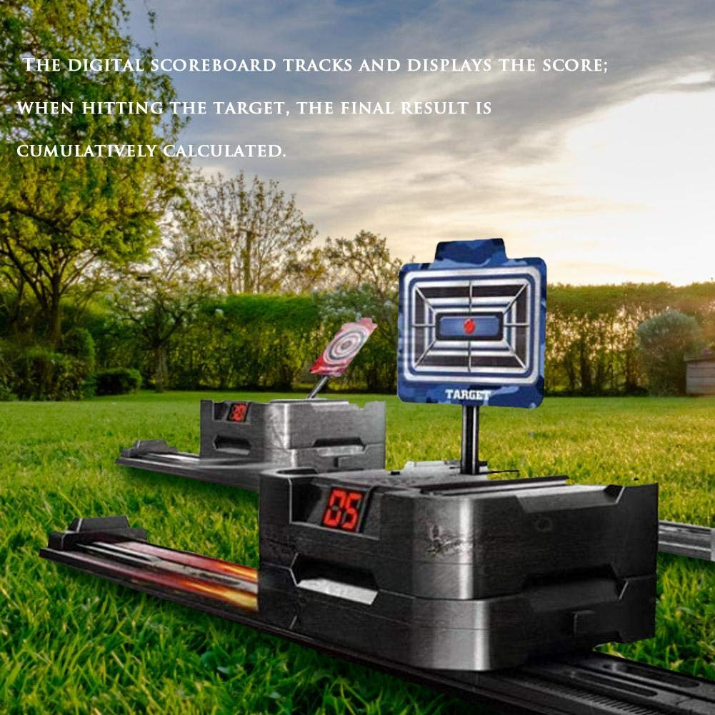 Intelligent Target Game guoxia74534 Electronic Automatic Moving Target set Mobile Electronic Scoring Target Electric Scoring Automatic Return Target R728
