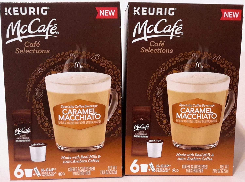 MCCAFE Specialty Coffee Beverage CARAMEL MACCHIATO 6 K-Cup 7.83 oz (2 Pack)