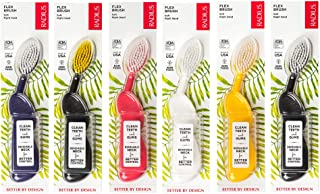 product image for RADIUS Toothbrush Flex Brush, Right Hand - 6 Pack in Assorted Colors, BPA Free and ADA Accepted, Designed to Improve Gum Health and Reduce The Risk of Gum Disease
