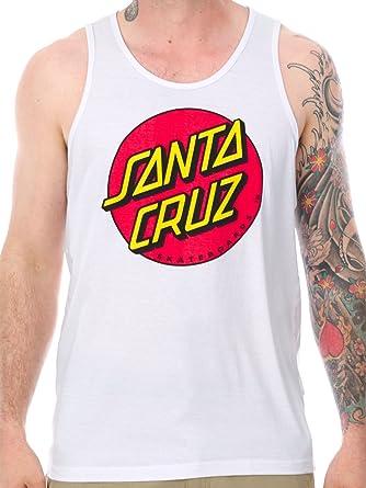 Camiseta Sin Mangas Santa Cruz Sp17 Classic Dot Blanco (M ...