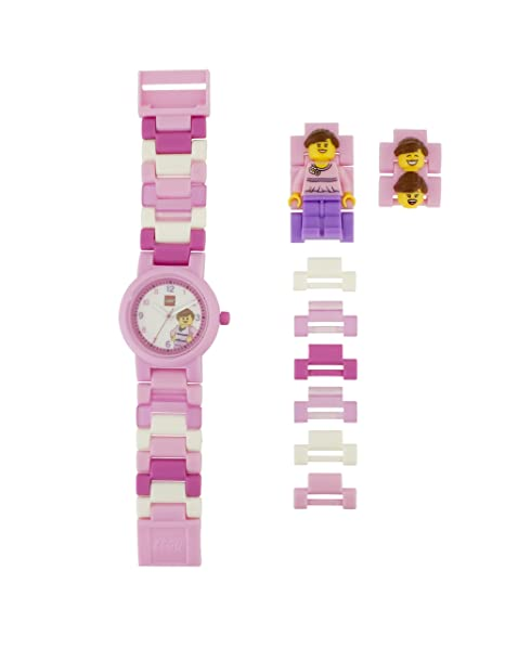 330a9a2fafbd Lego Reloj Análogo clásico para niñas de Cuarzo con Correa en Plástico  8020820  Amazon.es  Relojes