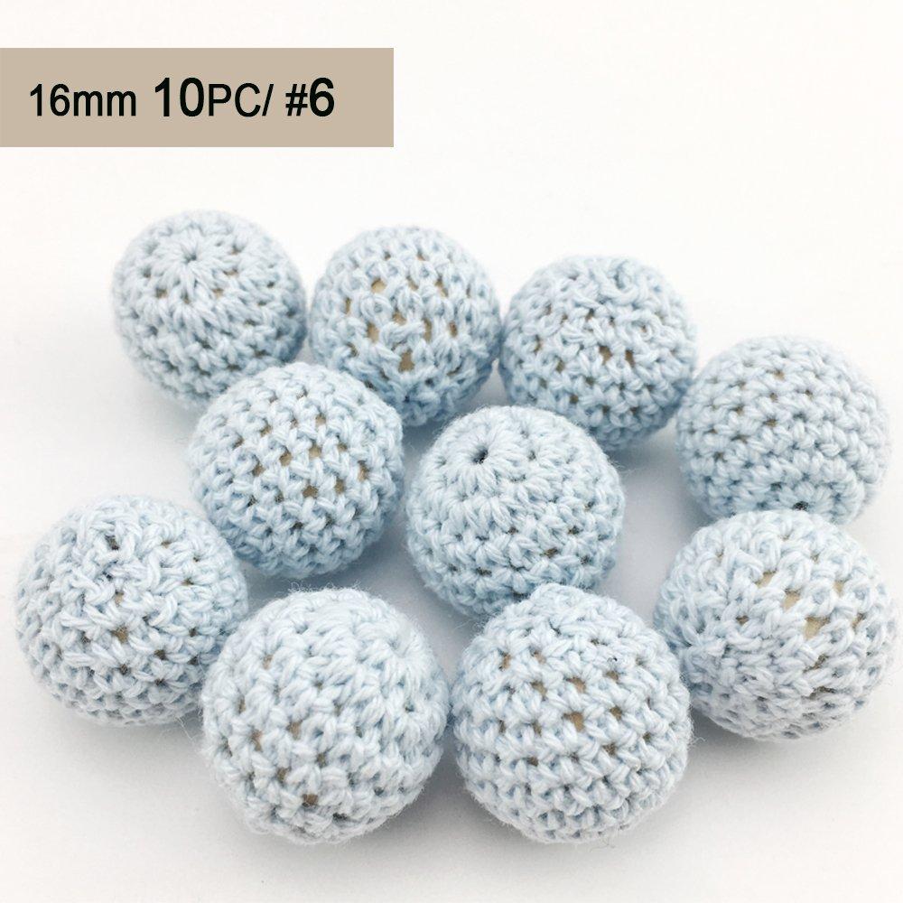 Best for baby Dentition en bois Bébé teether Jouets DIY Perles en bois 10PC 16mm bébé Perles au Crochet Collier Bracelet Cadeau Accessoires