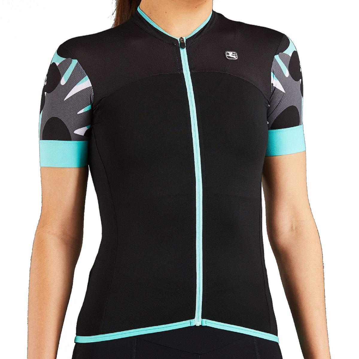 Giordana 2019 Women's Lungo Short Sleeve Cycling Jersey - GICS19-WSSJ-LUNG (Black/Mint/Grey - 2XL)