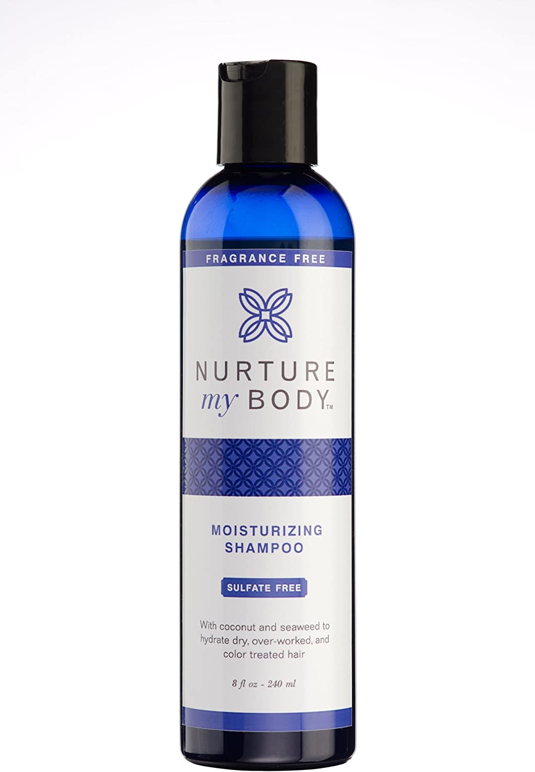 Moisturizing Shampoo by Nurture My Body | Fragrance Free, All-Natural, Handcrafted with Certified Organic Ingredients (8oz)