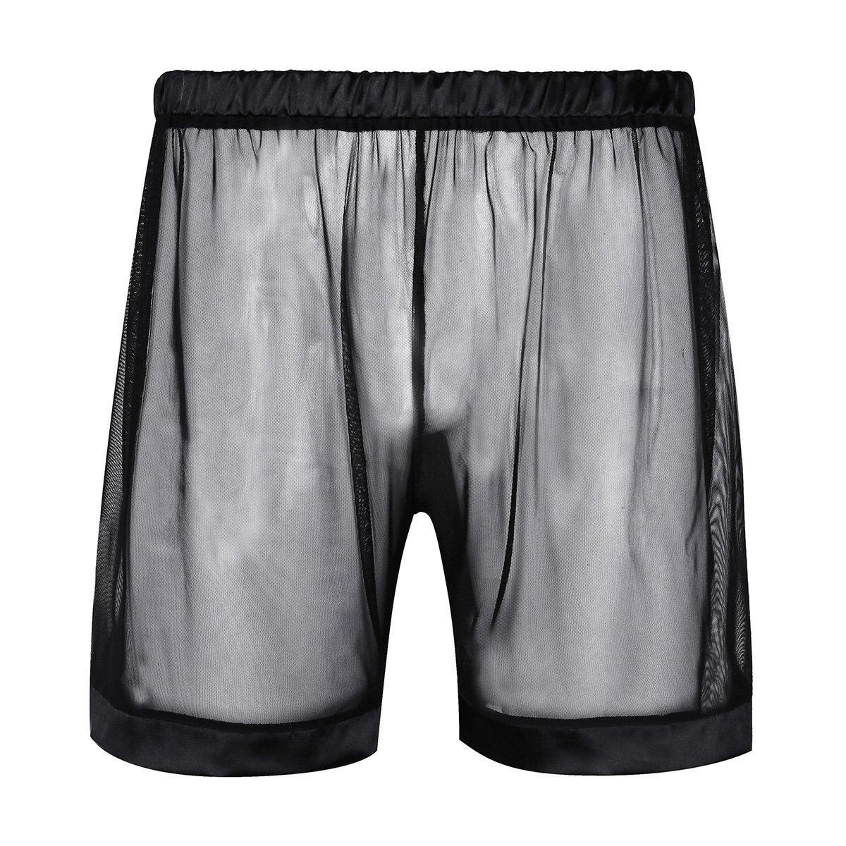 Alvivi Men's Mesh See-Through Loose Lounge Boxer Shorts Underwear