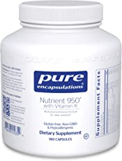 Pure Encapsulations - Nutrient 950 with Vitamin K - Vitamin Mineral Formula for Optimal Health* - 180 Capsules