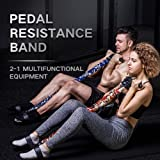 INNSTAR Pedal Resistance Band, Multifunction Pull Rope Fitness Equipment, Upgraded 3-Bands Natural Latex Sit-up…