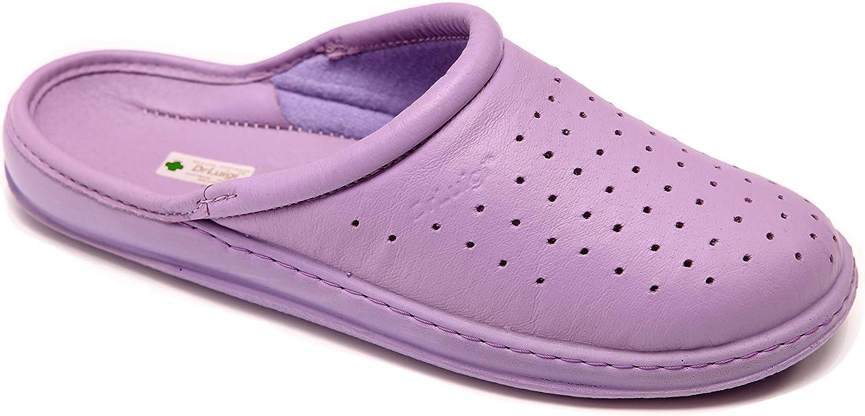Zapatos médicos DrLuigi para Mujer en Cuero Perforado - Suela de Poliuretano - Interior de algodón Exterior de Cuero - Extra Ligero ISO 9001