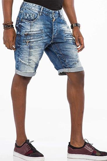 Cipo /& Baxx Herren Jeans Bermuda Shorts CK175