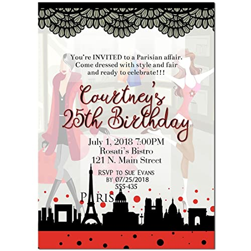 Amazoncom Paris Shopping Mall Birthday Party Invitations Handmade