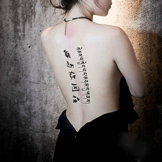 Full Brazo tatuajes temporales, Konsait Grande Tatuaje Temporales Mangas negro tatuaje cuerpo pegatinas para adultos hombre mujer (18 hojas): Amazon.es: ...