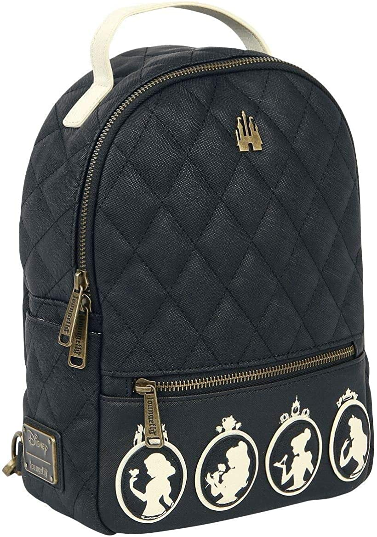 Loungefly Disney Princesses Silhouette Faux Leather Womens Double Strap Shoulder Bag Purse