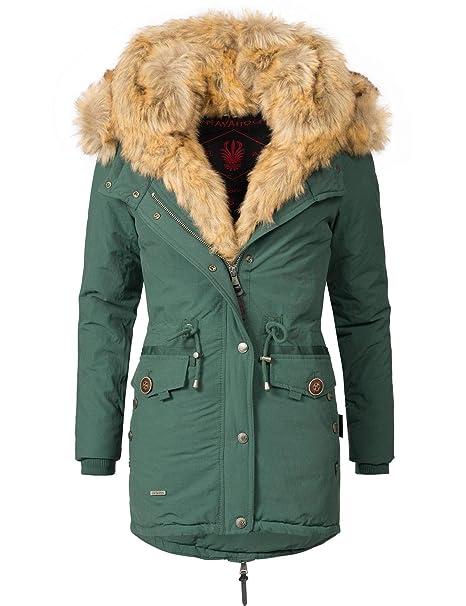 finest selection 5019f b358e Navahoo Damen Wintermantel mit Kunstpelz-Kapuze Sweety 14 Farben XS-XXL