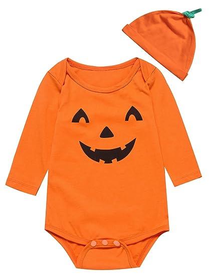 71a36d9ba Amazon.com  Little Fancy Baby Boys  Halloween Pumpkin Costume ...