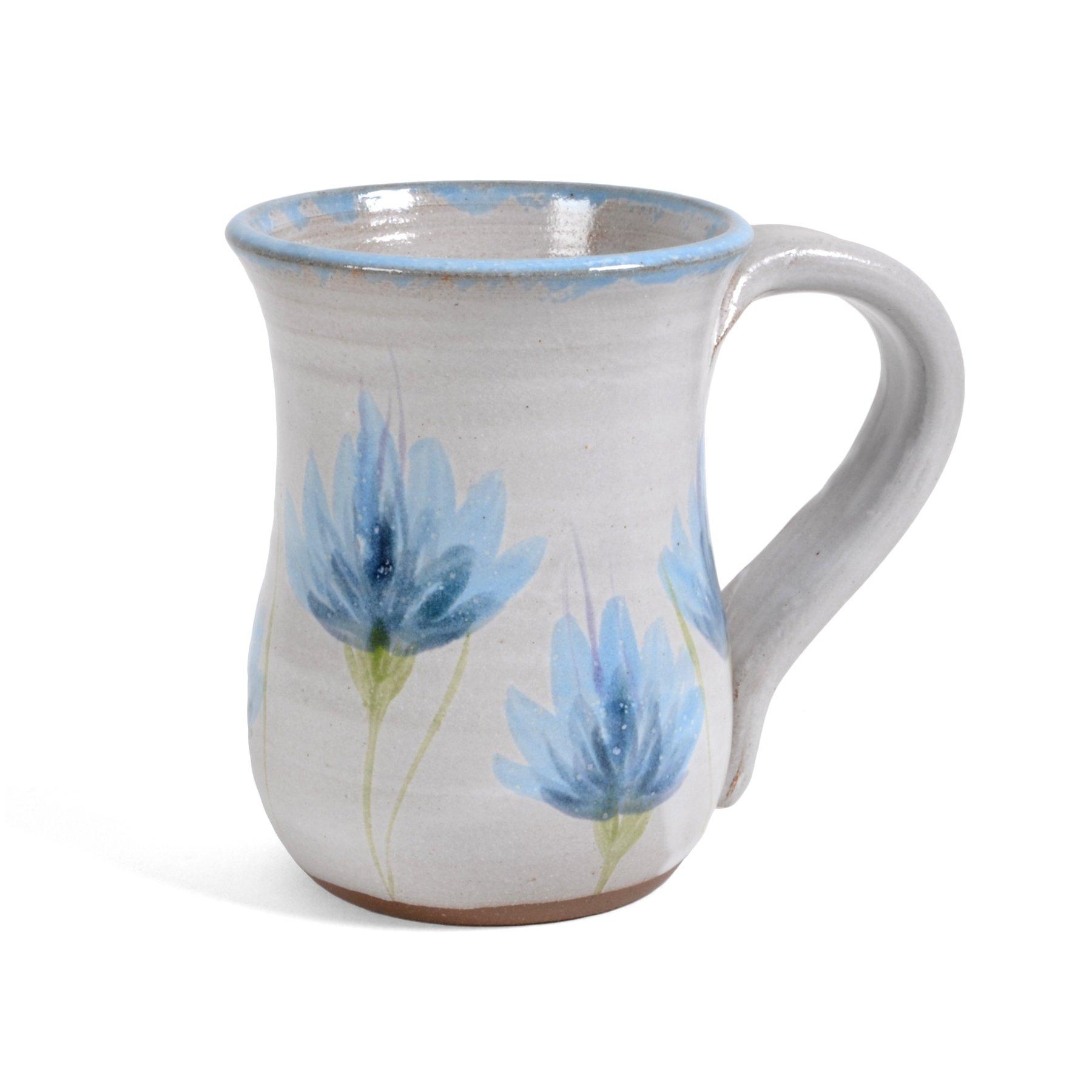MudWorks Pottery Thistle Mug, Lavender/White