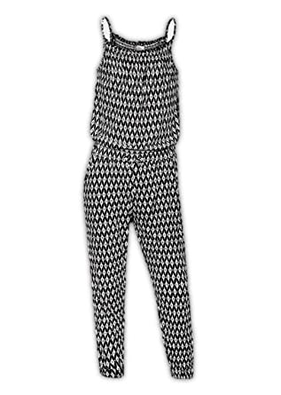 2b5fe984dc4b Ex H M Girls Black   White Print Full Length Strappy Jumpsuit   Playsuit (Age  13