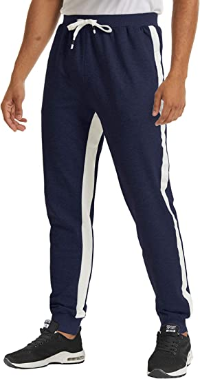 TACVASEN Casual Joggers Cotton Trousers for Men Sport Sweatpants Tracksuit Bottoms with Pockets