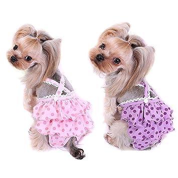 TVMALL pañales para perros pequeños para mascotas acogedoras perro ...