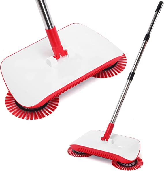 Up to 40 Minutes,Dual Brush Rotating System purple Rechargeable Electric Broom Cordless Floor Sweeper For Home Office Hard//Bare Floor Cleaning Ergonomic Handle /& Double Powerful Brushes
