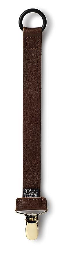 Elodie Detalles Chupete Chupete Clip (piel), color marrón ...