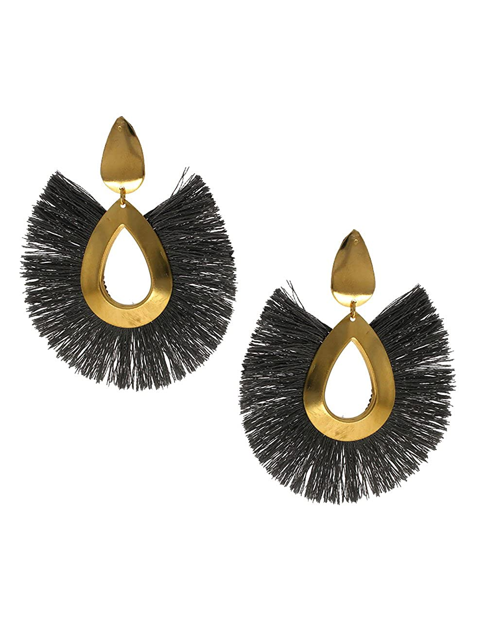 Anuradha Art Grey Colour Styled With Thread Fancy Designer Earrings For Women//Girls