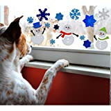 Gel Charms Christmas Window Clings Snowman and