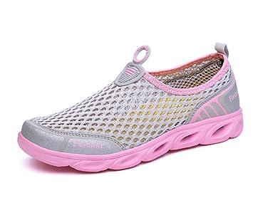 DANDANJIE Zapatillas de Deporte de Mujer Zapatillas Deportivas de Malla Transpirable Zapatillas de Deporte Mocasines de Exterior Zapatillas: Amazon.es: ...