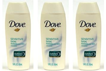 Amazon Com Dove Body Wash Sensitive Skin 1 8 Oz Travel Size Pack Of 3 Beauty