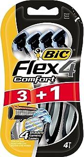 BiC Comfort 4 - Cuchilla de afeitar desechable para hombre (3+1 unidades)