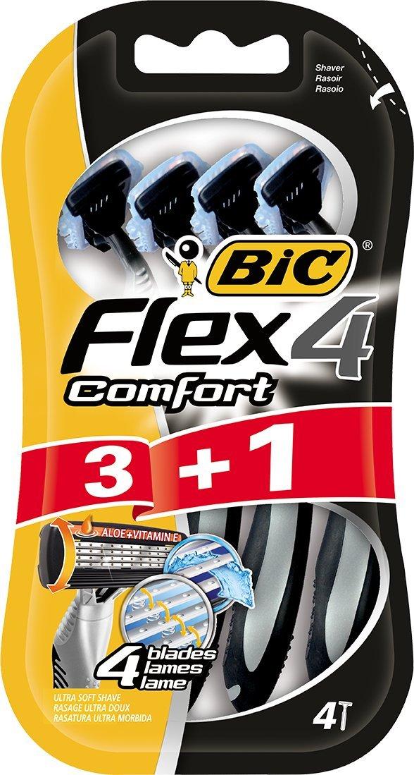 BiC Comfort 4 - Cuchilla de afeitar desechable para hombre (3+1 unidades) 8880283