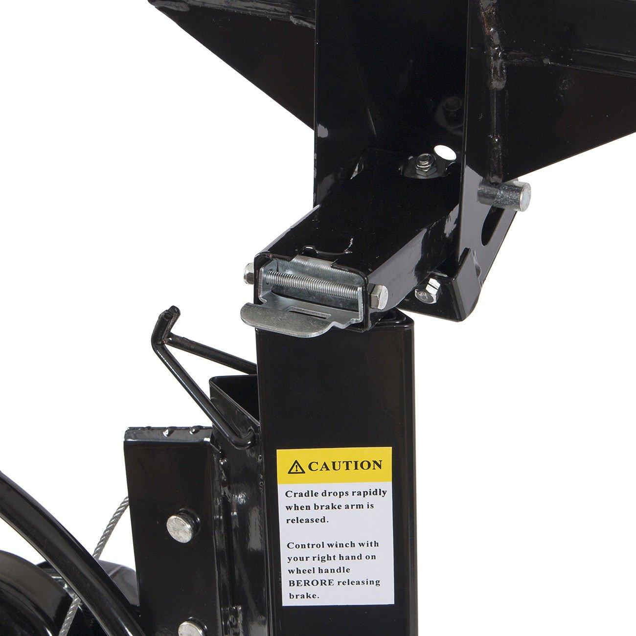 Drywall Lift 11' 15' Lift Panel Hoist Dry Wall Jack Lifter Construction -Black by Happybeamy (Image #3)