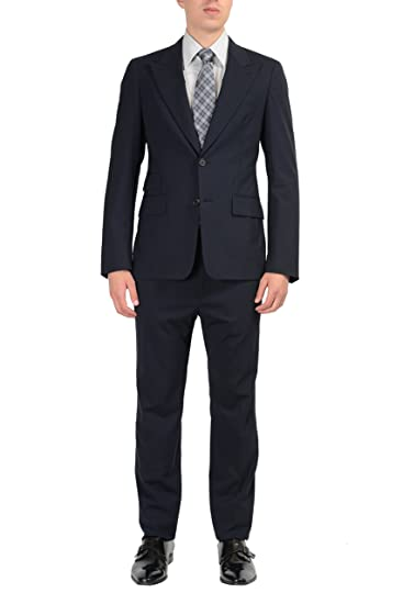 8b1883830d0b3a Prada Wool Black Two Buttons Men's Suit US 36R IT 46R at Amazon ...