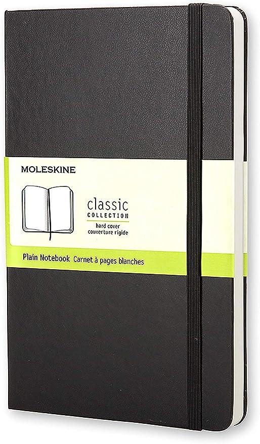 Moleskine - Cuaderno Clásico con Páginas Lisas, Tapa Dura y Goma ...