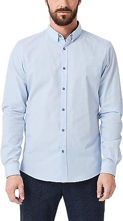 s.Oliver BLACK LABEL 12.909.21.2525 Camisa, Azul (Light Blue ...
