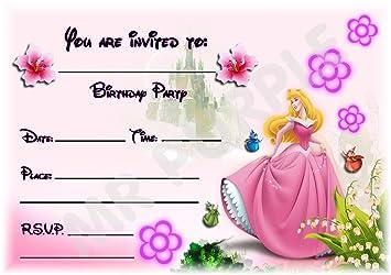 Sleeping Beauty Disney Princess Birthday Party Invites