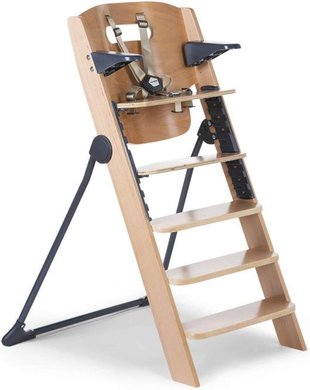 Childhome Chaise haute /évolutive hauteur Kitgrow naturel et anthracite