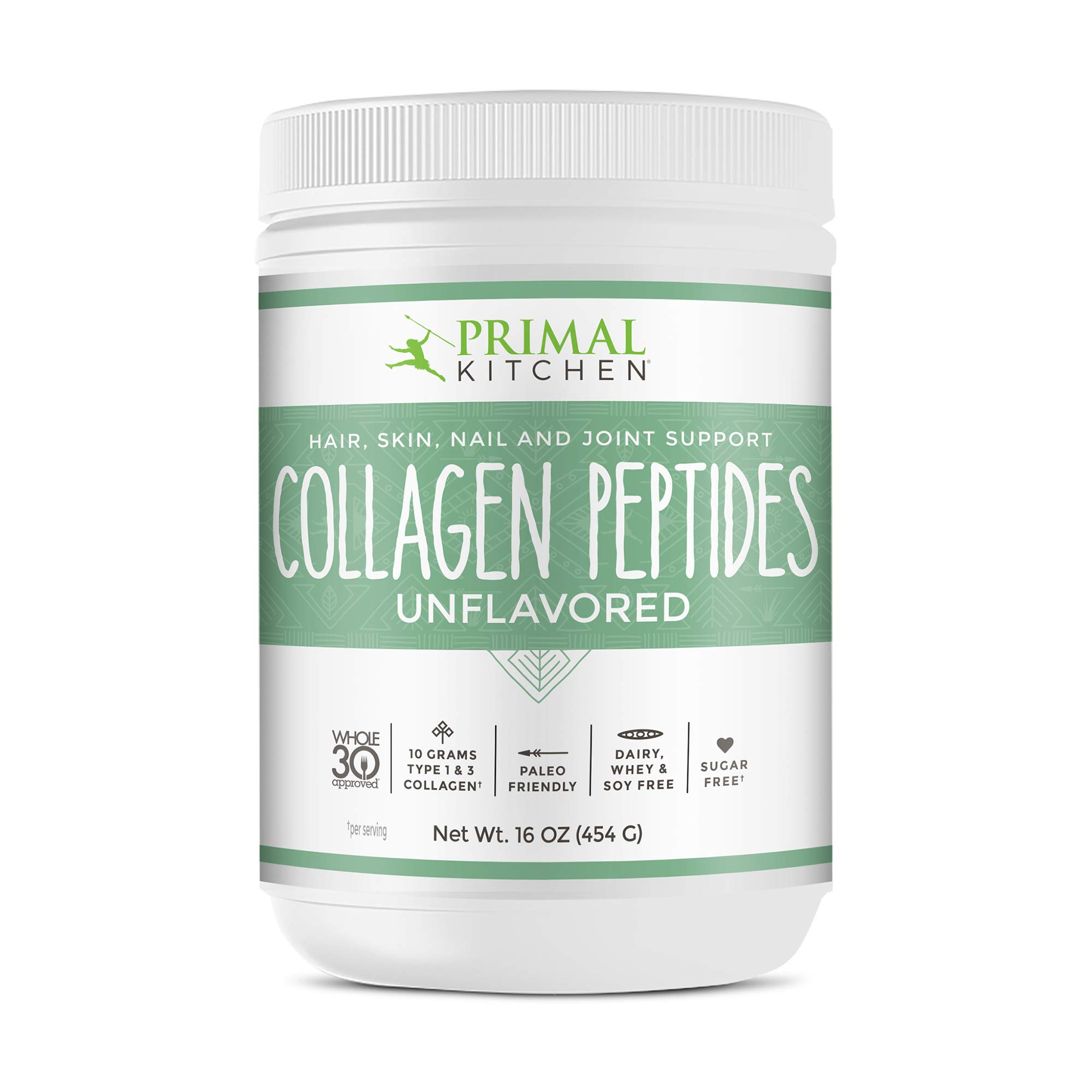 Primal Kitchen Unflavored Collagen Peptides, Whole 30 Approved - Supports Healthy Hair, Skin, Nails and Joints- 16 oz. by Primal Kitchen
