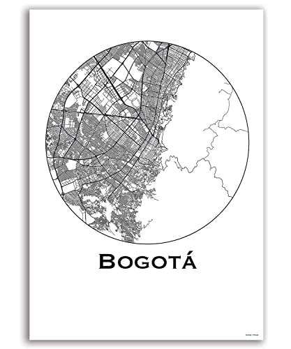 Amazon.com: Poster Bogota Colombia City Map Street Map Wall ... on sao paulo brazil map, caracas map, havana map, lima on map, san pedro sula map, boston map, mexico city map, dhaka map, buenos aires map, colombia map, cartagena map, quito map, chicago map, bratislava map, paramaribo map, leticia map, santiago map, asuncion map, rio de janeiro map, brasillia map,