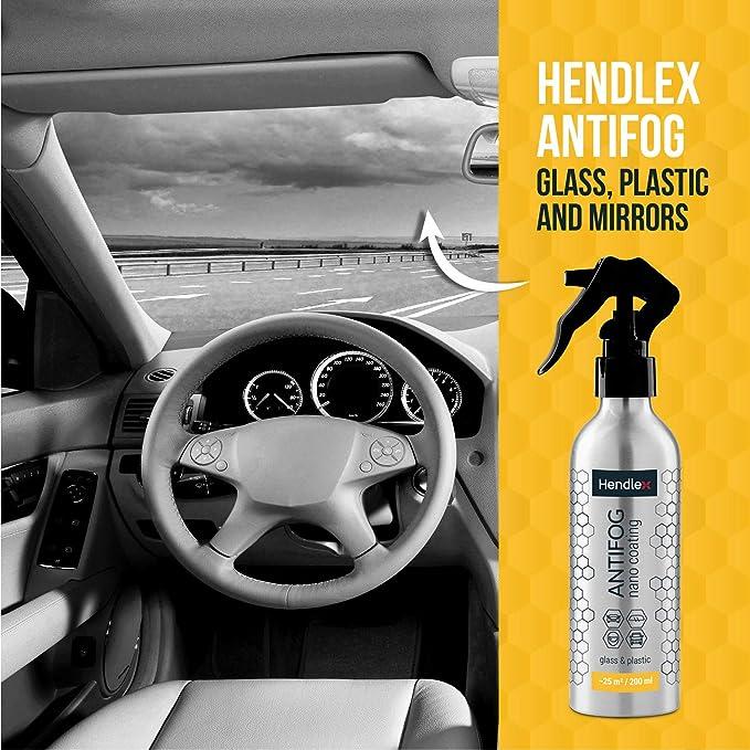 Spray Hendlex Nano Antivaho y anti condensación para todo tipo de materiales como cristales, plastico, espejos de baño, etc. 200ml con Hendlex Nano preparador 200ml: Amazon.es: Coche y moto