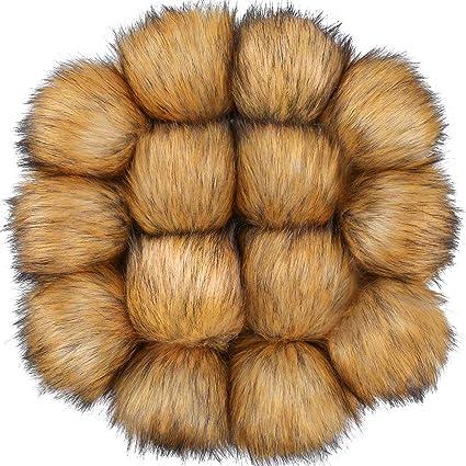 Amazon.com: Auihiay - Bolas de piel sintética para sombreros ...