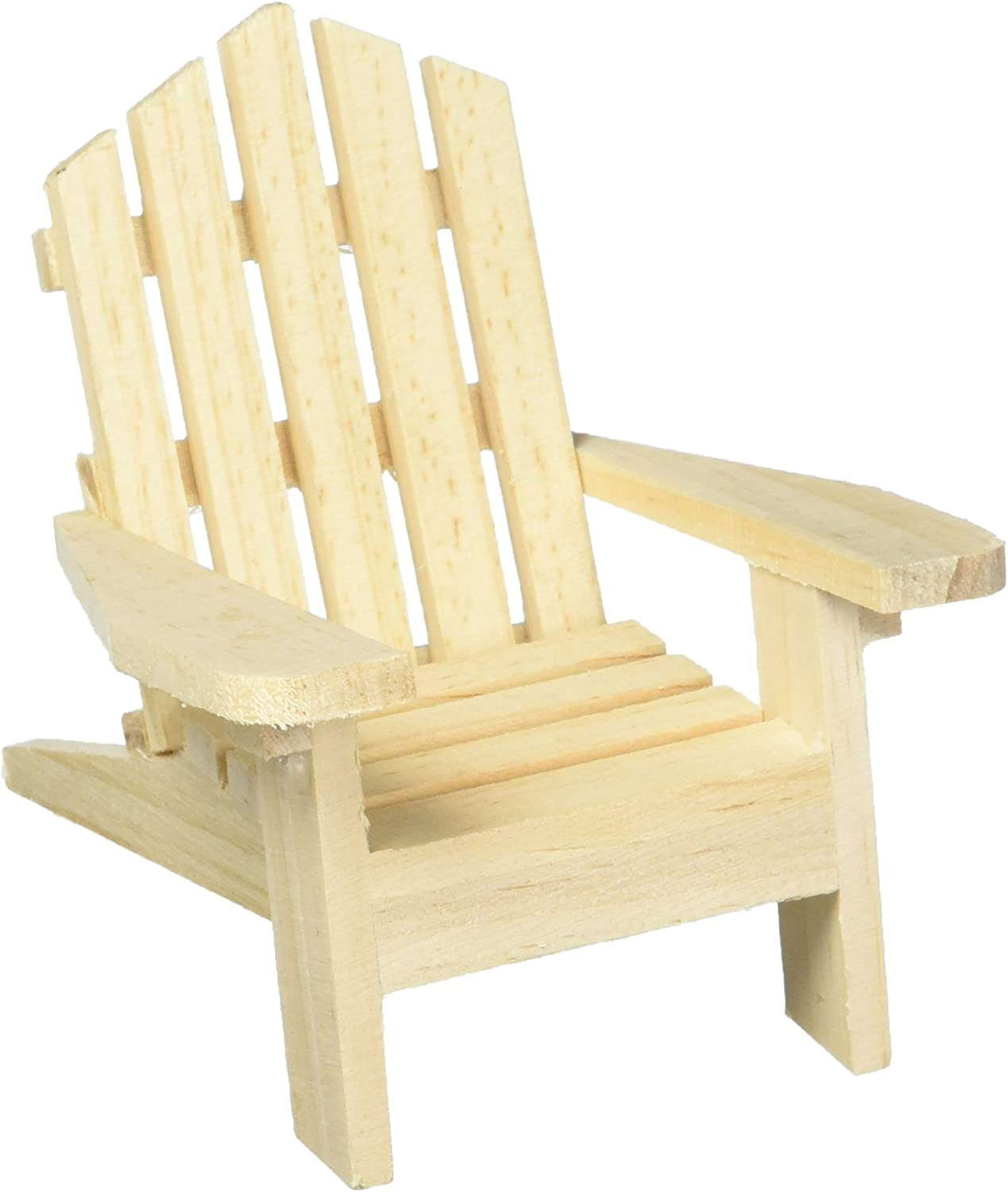 Darice 9132-66 Unfinished Wood Chair 4.5 by 6-Inch