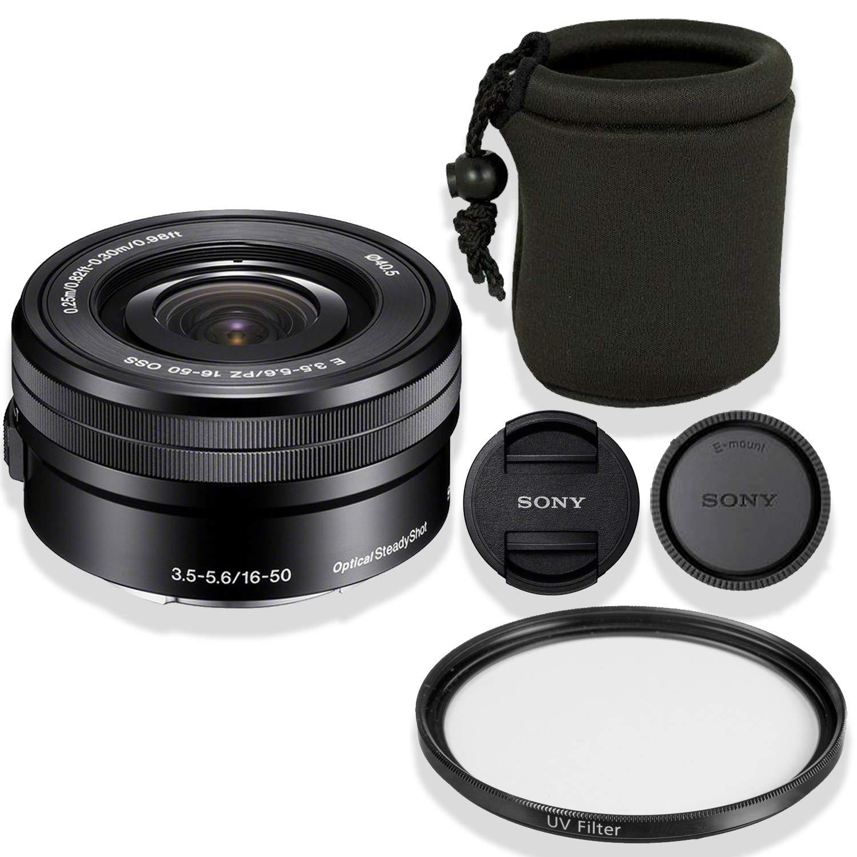 Sony E 16-50mm PZ 16-50mm ハイデフ f/3.5-5.6 OSS OSS レンズ(ブラック)バンドル + デラックスレンズポーチ+ ハイデフ UVフィルター(ホワイトボックス) B07GHSMZ5R, 靴の広場 K's Direct:b5c08f00 --- ijpba.info