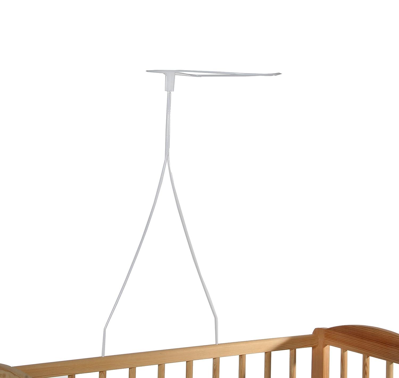 Himmelstange für Beistellbett, Himmelstange Babybett, Höhe ca. 70 cm, Babyblume, weiß Höhe ca. 70 cm weiß